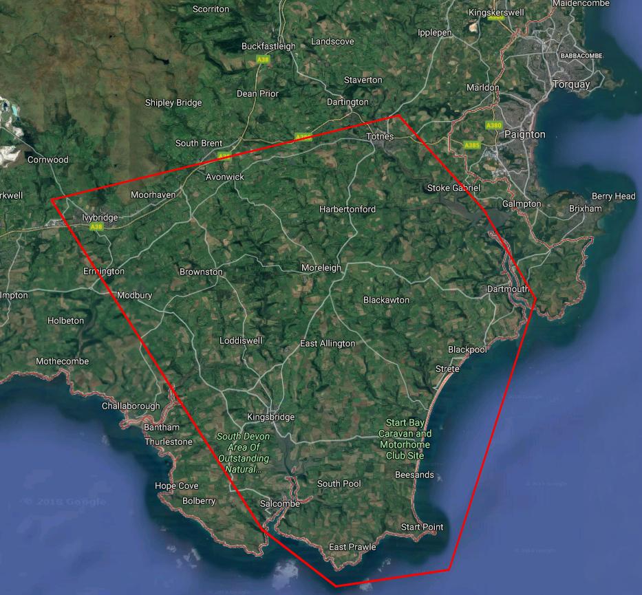South Devon Map